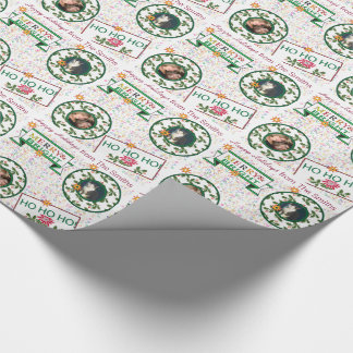 HOHOHO Family Pet Photo Christmas Holiday Wrapping Paper