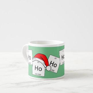 HoHoHo Holmium Chemistry Element Christmas Pun 6 Oz Ceramic Espresso Cup