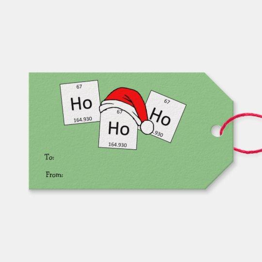 Christmas Puns.Hohoho Holmium Chemistry Element Christmas Pun Gift Tags