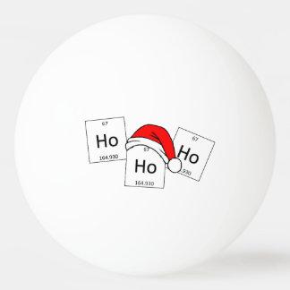 HoHoHo Holmium Chemistry Element Christmas Pun Ping Pong Ball