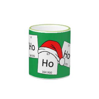 HoHoHo Holmium Chemistry Element Christmas Pun Ringer Mug