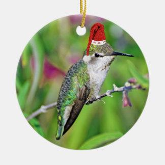 HoHoHo Hummingbird Christmas Tree Ornament