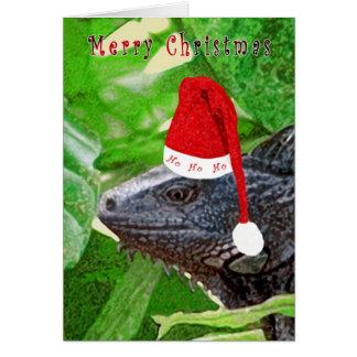 HoHoHo Iguana Greeting Card