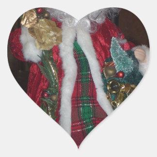 HoHoHo Merry Christmas and a Wonderful New Year ar Heart Sticker
