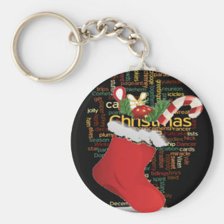 HoHoHo! Merry Christmas GIFTS and a Happy New Year Basic Round Button Keychain