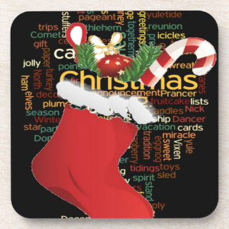 HoHoHo! Merry Christmas GIFTS and a Happy New Year Beverage Coaster