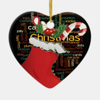 HoHoHo! Merry Christmas GIFTS and a Happy New Year Ceramic Ornament