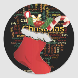 HoHoHo! Merry Christmas GIFTS and a Happy New Year Classic Round Sticker