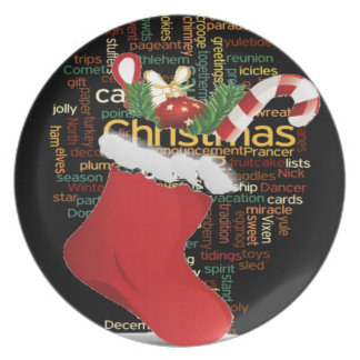 HoHoHo! Merry Christmas GIFTS and a Happy New Year Melamine Plate