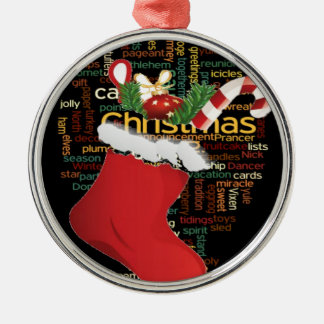HoHoHo! Merry Christmas GIFTS and a Happy New Year Metal Ornament
