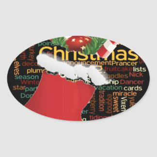 HoHoHo! Merry Christmas GIFTS and a Happy New Year Oval Sticker