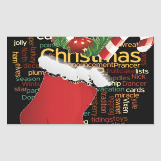 HoHoHo! Merry Christmas GIFTS and a Happy New Year Rectangular Sticker