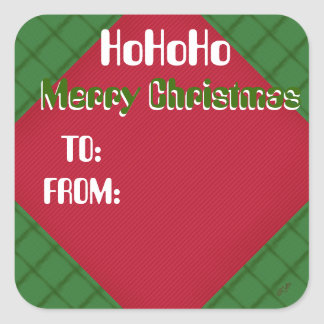 HoHoHo Merry Christmas TO and FROM Label