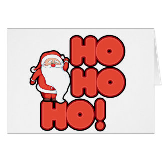 HOHOHO Santa Claus Card