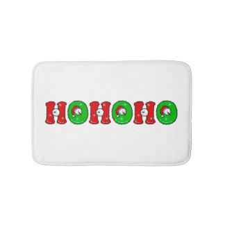 HOHOHO Santa Claus Laugh SnowMan Cute Christmas Bath Mats