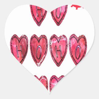 Hohoho! Santa cool hearts text Christmas love desi Heart Sticker