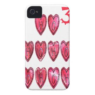 Hohoho! Santa cool hearts text Christmas love desi iPhone 4 Cover