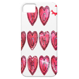 Hohoho! Santa cool hearts text Christmas love desi iPhone SE/5/5s Case