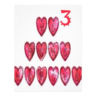 Hohoho! Santa cool hearts text Christmas love desi Letterhead