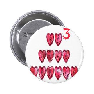 Hohoho! Santa cool hearts text Christmas love desi Pinback Button