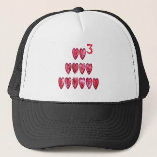 Hohoho! Santa cool hearts text Christmas love desi Trucker Hat