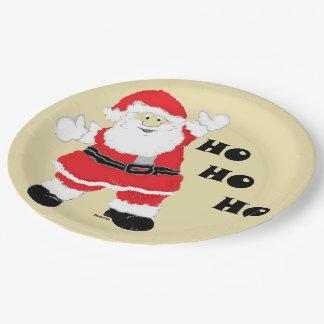 HoHoHo Santa 9 Inch Paper Plate