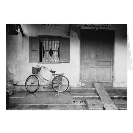 Hoi An Vietnam, House with Bicycle Greeting Card