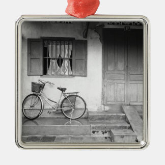 Hoi An Vietnam, House with Bicycle Metal Ornament