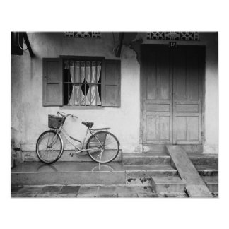 Fine Art - Hoi An Vietnam, House with Bicycle Poster