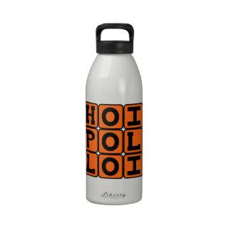 Hoi Polloi, The Common People Latin Phrase Reusable Water Bottles