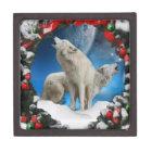 Hoilday spirit wolveson a gift box