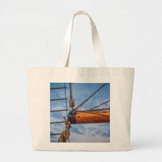 Hoist and Jib Sailing Boat Tote Bags