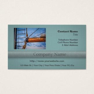 Hoist and Jib Sailing Boat Business Card