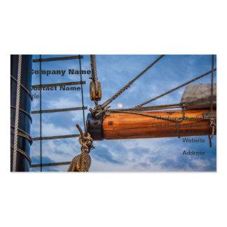 Hoist and Jib Sailing Boat Business Card Templates