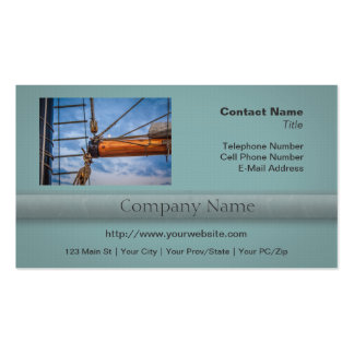 Hoist and Jib Sailing Boat Business Cards