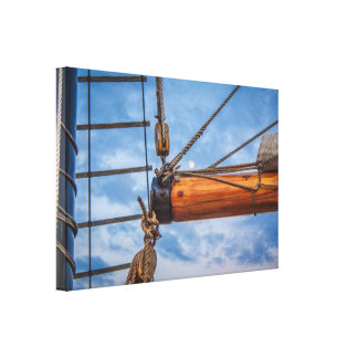Hoist and Jib Sailing Boat Canvas Print