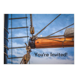 Hoist and Jib Sailing Boat Card