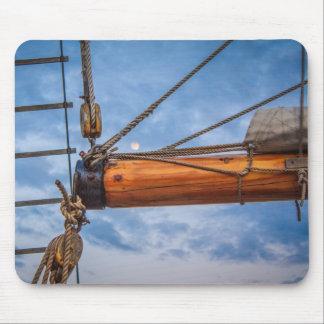 Hoist and Jib Sailing Boat Mouse Pad