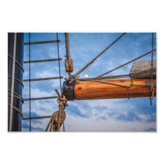 Hoist and Jib Sailing Boat Photo Print