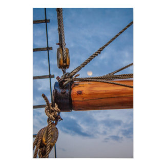 Hoist and Jib Sailing Boat Poster
