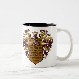 Hoist the Black Flag Mencken Quotation Two-Tone Coffee Mug