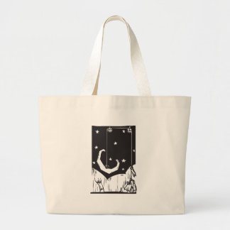Hoisting the Moon Large Tote Bag