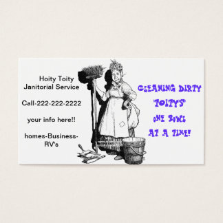 Janitorial Business Cards & Templates | Zazzle