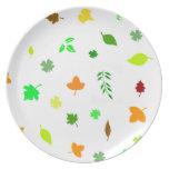 Hoja, 葉, placa plato de comida