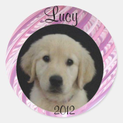 Hoja 2012 del pegatina de Lucy