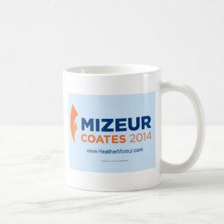 Hoja 2014 del pegatina de Mizeur Coates de 4 Taza