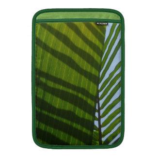 Hoja abstracta del verde de la fotografía funda  MacBook