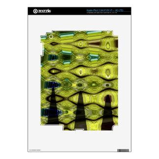 HOJA ABSTRACTA GRANDE 10 iPad 3 PEGATINA SKIN