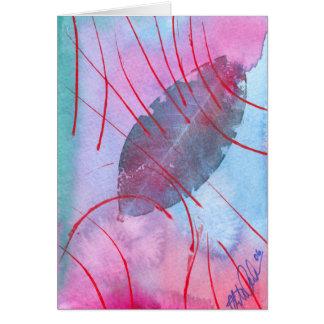 Hoja abstracta y delicada del otoño tarjeta de felicitación