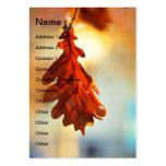 Hoja amarilla del otoño plantilla de tarjeta de negocio